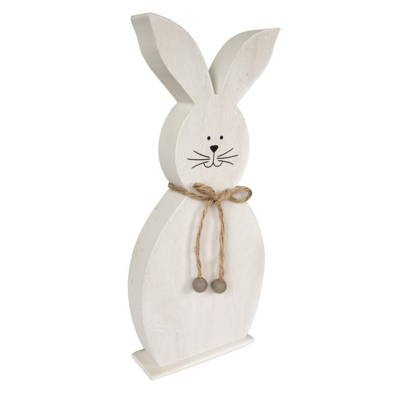 Drewniany biały króliczek