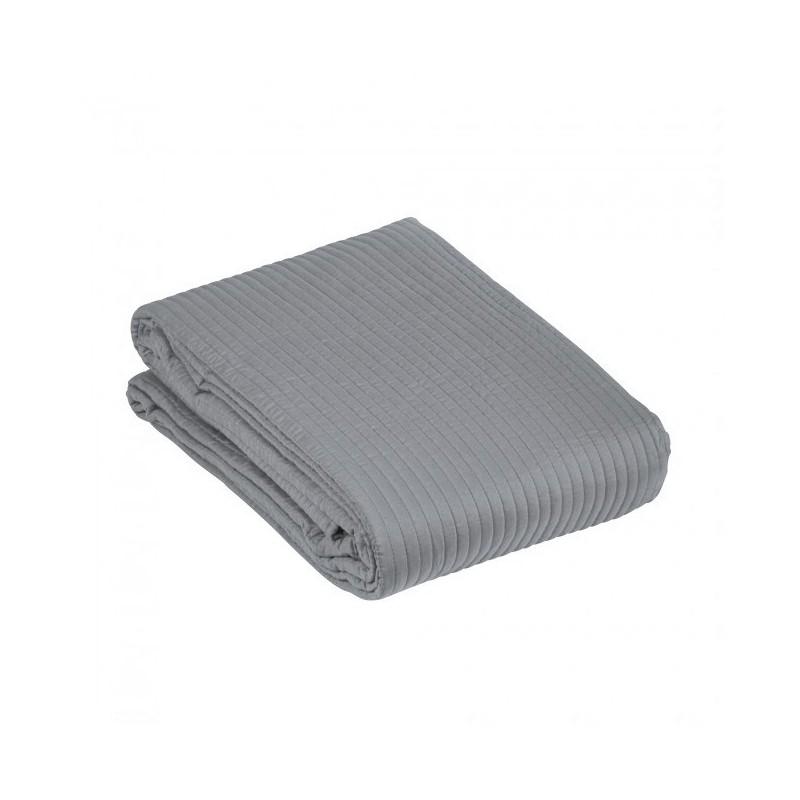 Szara pikowana narzuta na łóżko Grey Ally 260 x 260