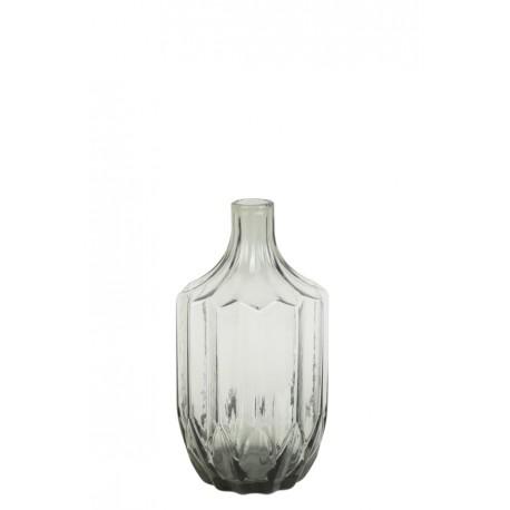 Szklany wazon OLEIROS glass grey