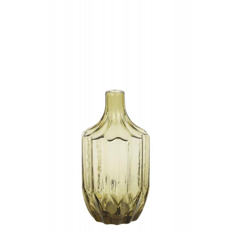Szklany wazon OLEIROS glass olive