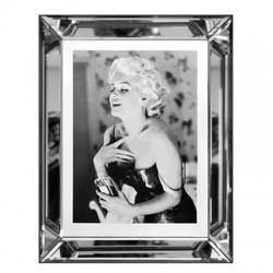 Obraz z lustrzanej ramie Monroe Chanel No.