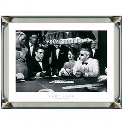 Obraz w lustrzanej ramie James Bond - Lady Luck - Sean Connery 70x90
