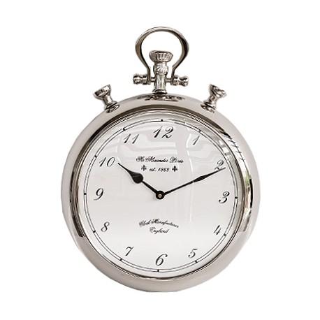 Niklowany zegar New York