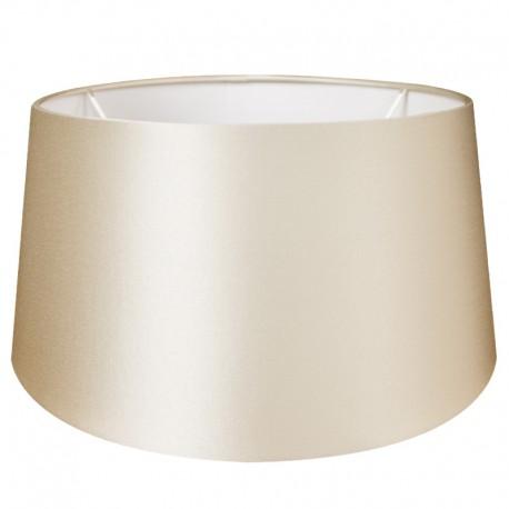 Jedwabny abażur Ø 40 lampa podłogowa  perłowa satyna