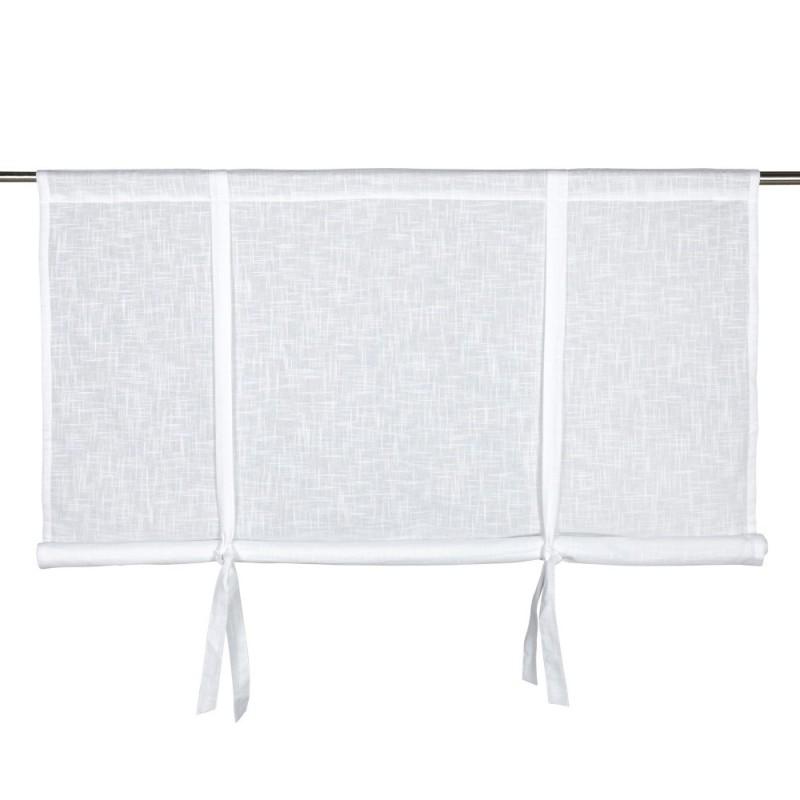 Biała bawełnia roleta Hannah 120 x 120 wiązana