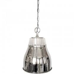 Niklowana lampa wisząca nad stół New York