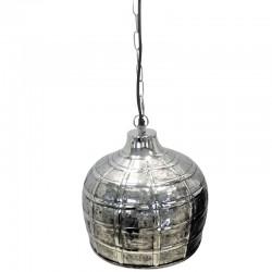 Niklowana stylowa lampa wisząca