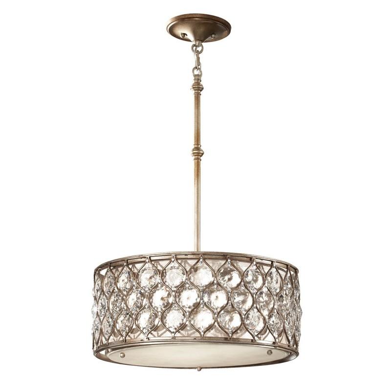 Nowojorska lampa wisząca Ø 46 kryształ/koniczynka