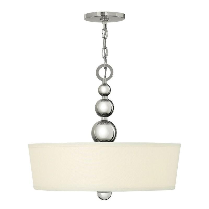Żyrandol lampa sufitowa z białym abażurem do salonu Modern Classic