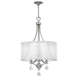 Lampa wisząca do sypialni New York z kryształkami.