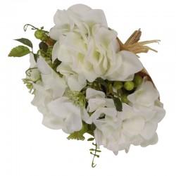 Bukiet kwiatów biała hortensja/jagoda