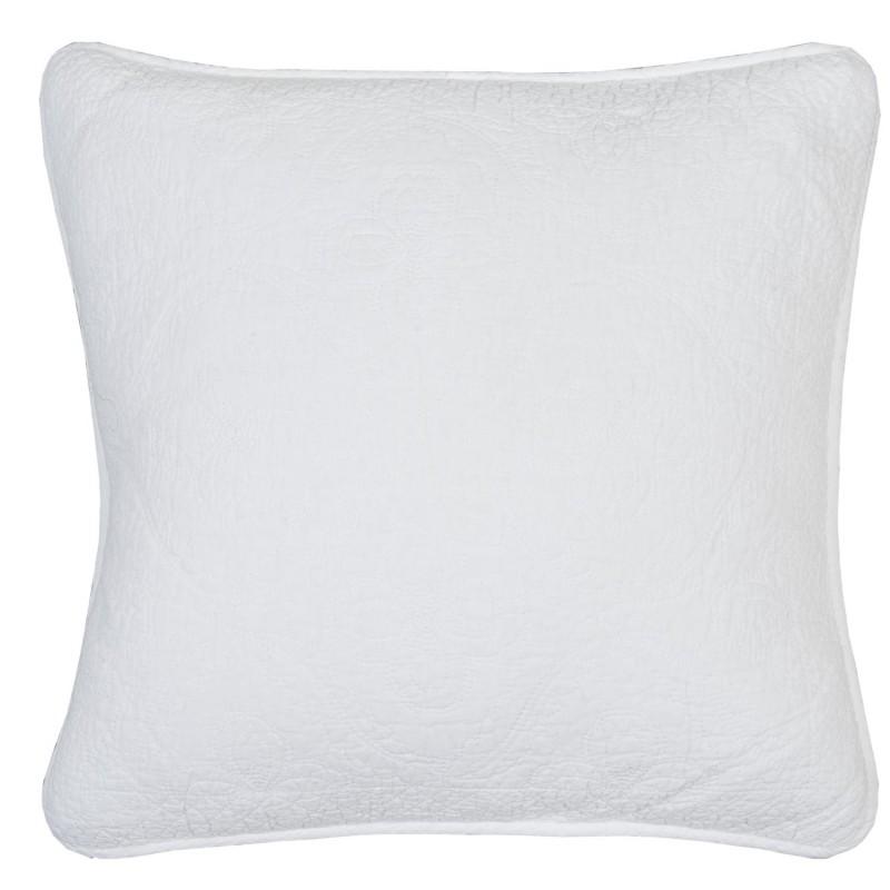 Biała pikowana poszewka do narzuty 50x50 koniczynka