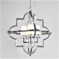 Nikowany żyrandol /lampa białe abażurki New York