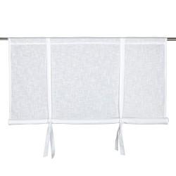 Biała bawełnia roleta Hannah 140 x100 wiązana