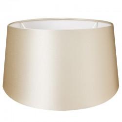 Jedwabny abażur Ø 35 lampa stołowa perłowa satyna
