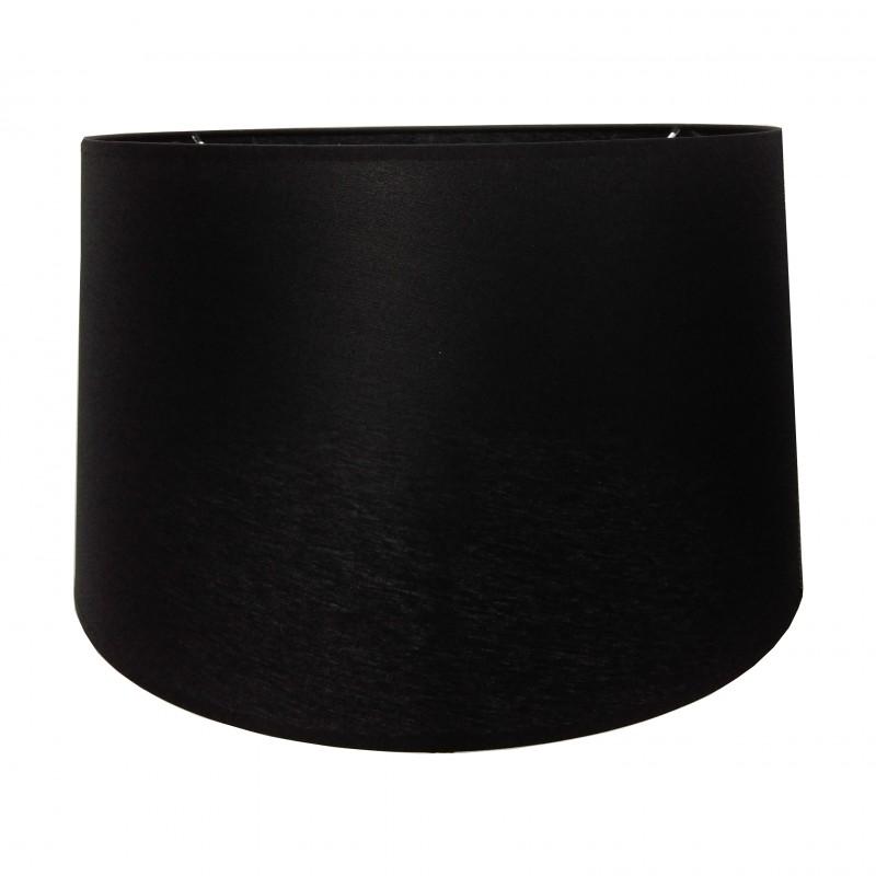 Czarny satynowy abażur Ø 40 lampa podłogowa