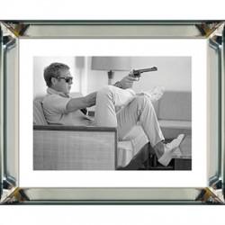 Obraz w lustrzanej ramie Steve McQueen 50x60