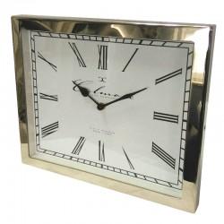 Niklowany zegar stojący 30X25 do salonu New York