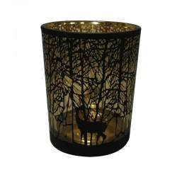 Szklany świąteczny lampion h12/złoty