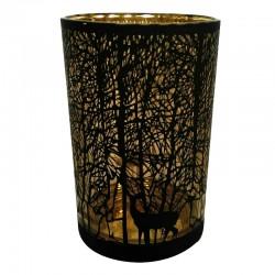 Szklany świąteczny lampion h18/złoty