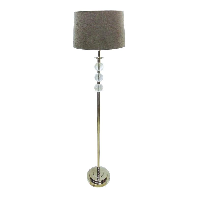 Modern Classic niklowana lampa podłogowa z kulami