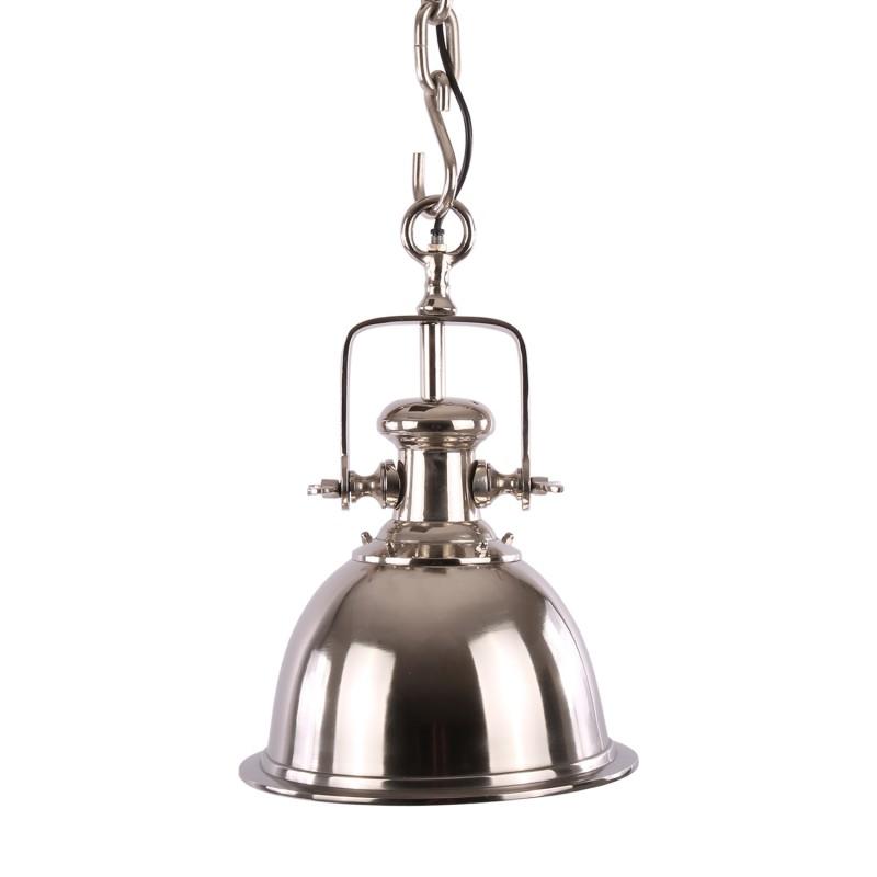 Luksusowa niklowana lampa Ø30 kuchenna Hamptons