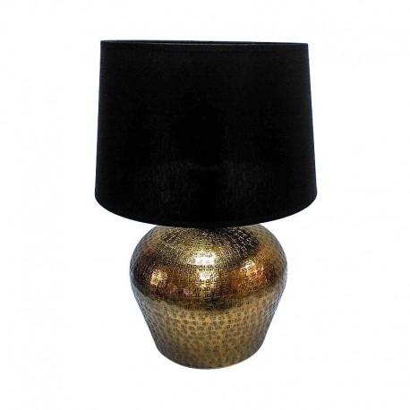 Złota lampa stołowa do wnętrz New York Hamptons