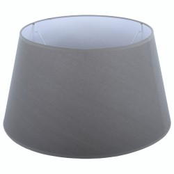 Szary abażur Ø 30 na lampę stołową bawełna/lamówka
