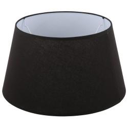 Czarny abażur Stone Ø 40 na lampę podłogową bawełna/lamówka