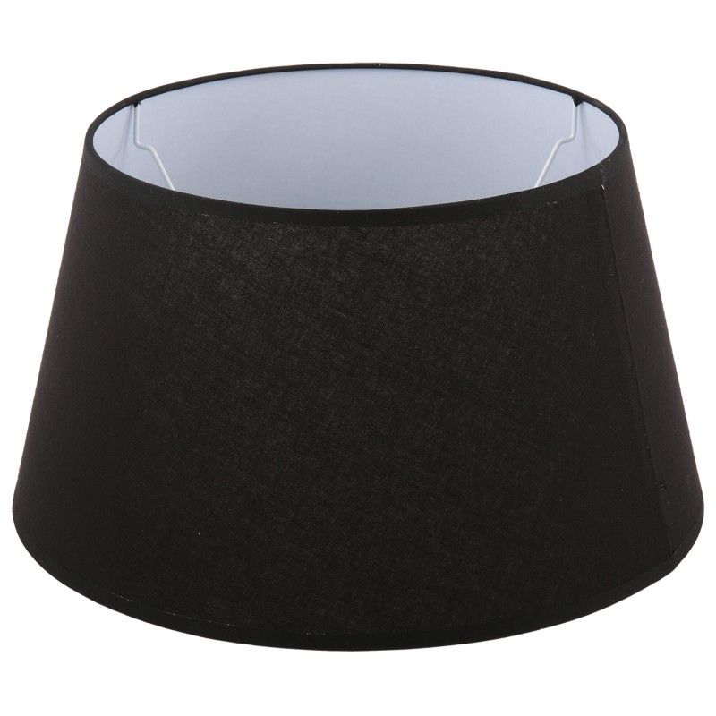 Czarny abażur Ø 40 lampa podłogowa Stone bawełna/lamówka