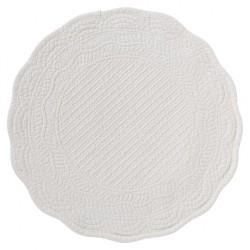 Elegancka biała pikowana podkładka pod talerz