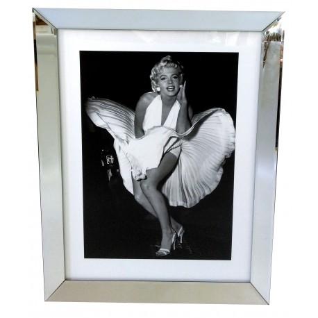 Obraz w lustrzanej ramie  70x90 z lustrzanej ramie Monroe sukienka