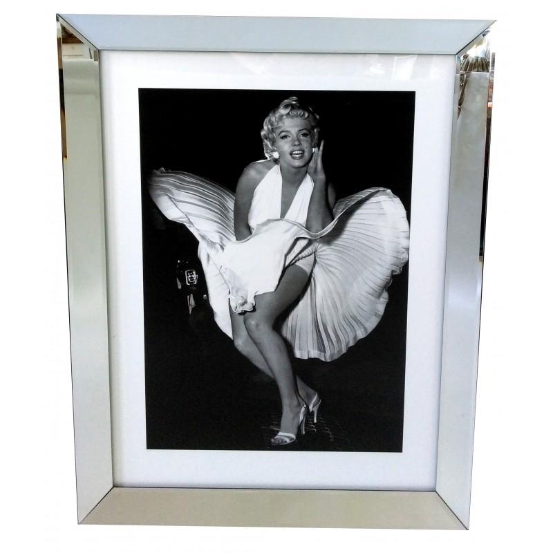 Obraz w lustrzanej ramie  70x90  Marilyn Monroe  sukienką