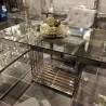 Ekskluzywny stół z blatem szklanym wnętrza nowoczesne, New York 160x80x76