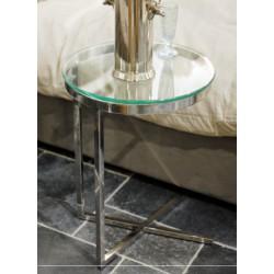 Stalowy stolik  dostawka do kanapy łóżka Modern Classic