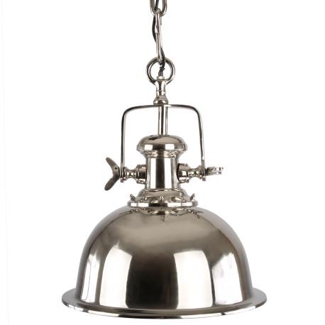 Luksusowa niklowana lampa Ø38 kuchenna Hamptons