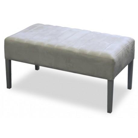 Prosta nowoczesna ławeczka do sypialni z tkaniny tapicerowanej