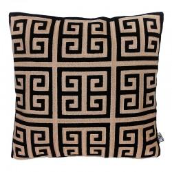 Luksusowa poduszka do sypialni New York 45X45 w kolorach czerni i złota.
