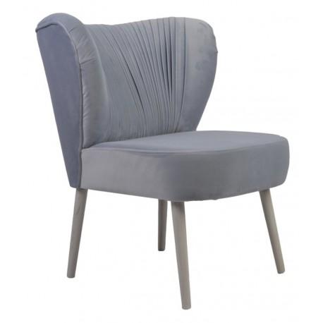 Szary tapicerowany fotel do sypialni/salonu New York