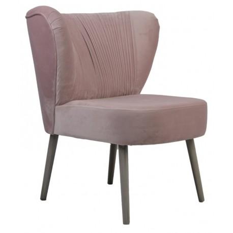 Różowy Szary tapicerowany fotel do sypialni/salonu New York