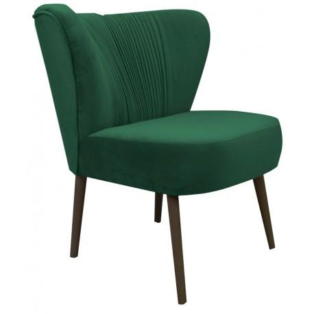 Modny zielony fotel tapicerowany do sypialni /salonu