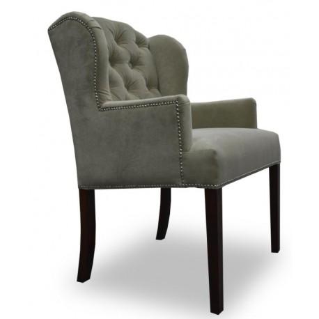 Elegancki fotel z pikowaniem chesterfield do salonu/sypialni