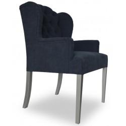 Wygodny fotel z pikowaniem chesterfield w modnym czarnym kolorze