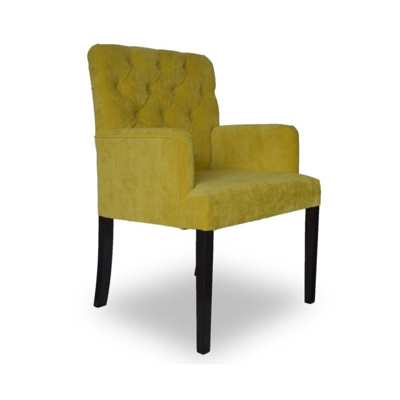 Modny fotel z pikowaniem do wnętrza Modern Classic kolor limonka