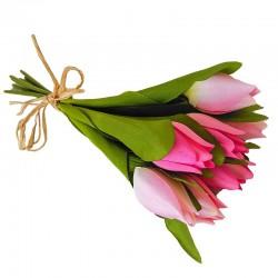 Wiosenny bukiet różowych tulipanów do wazonu lub doniczki