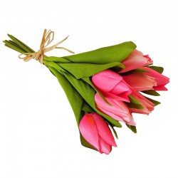 Wiosenny bukiet różowych tulipanów