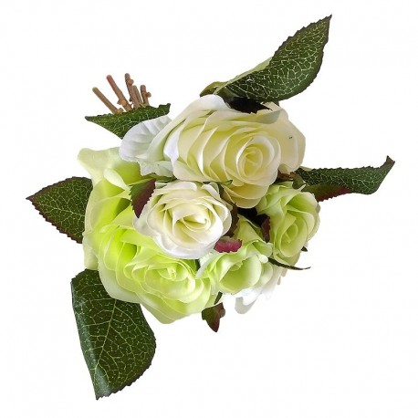 Elegancki bukiecik białych róż do wazonu w salonie sypialni