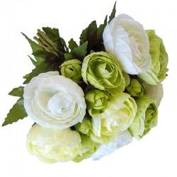 Elegancki bukiecik kwiatów do wazonu białych jaskrów