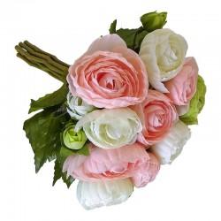 Elegancki bukiet kwiatów do wazonu pastelowych jaskrów