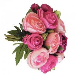 Wiosenny bukiet kwiatów do wazonu- różowe jaskry